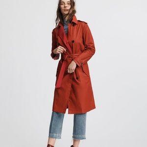 Rag & Bone Rufus Trench Coat in Red!